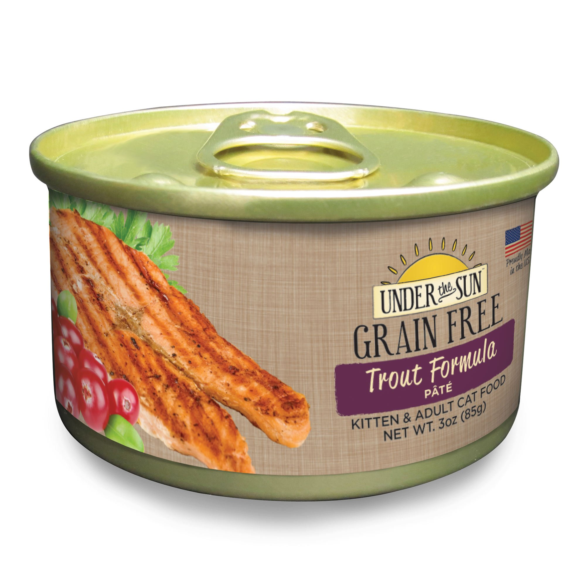 products feline adult grain free trout canned