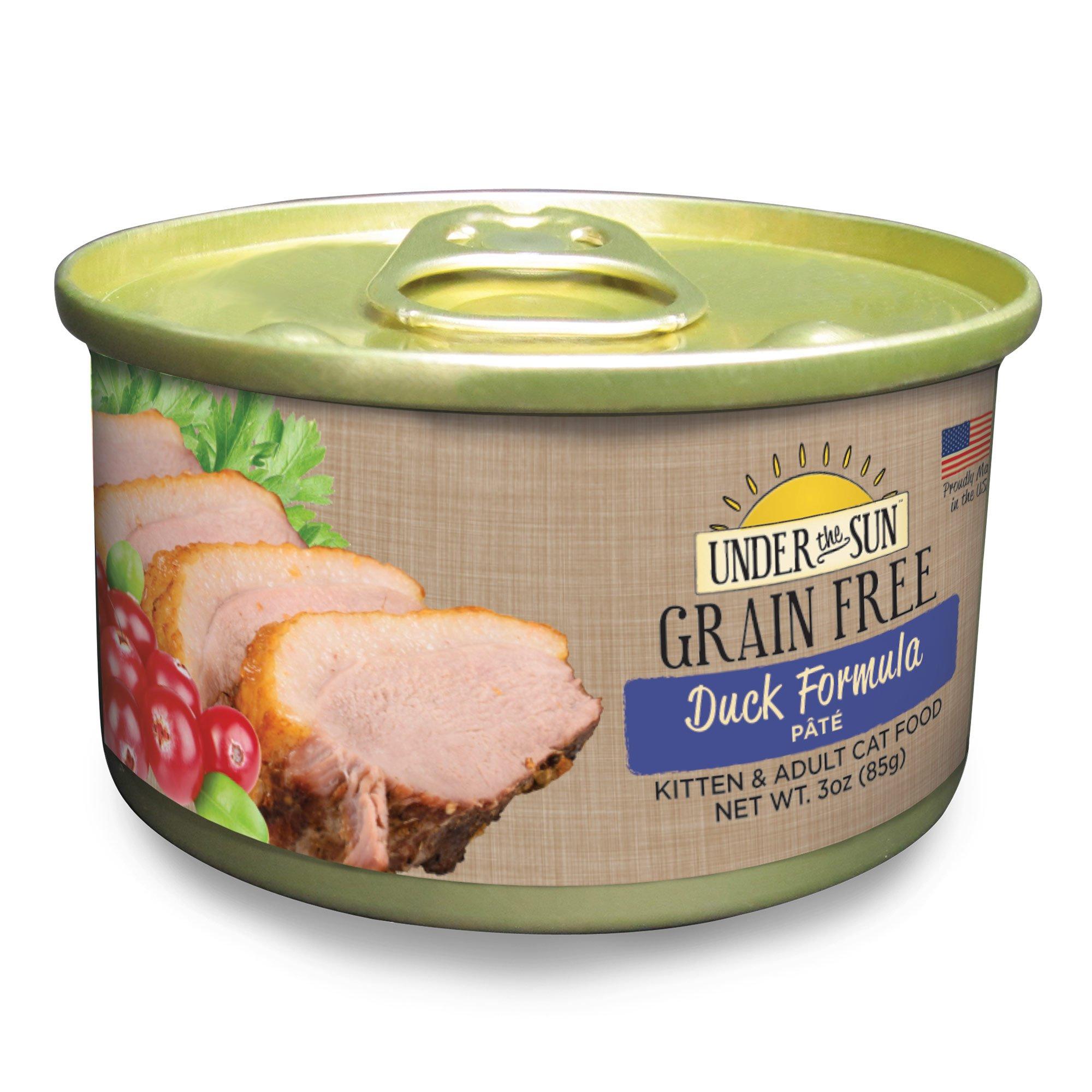 Under The Sun Grain Free Duck Kitten & Adult Canned Cat Food