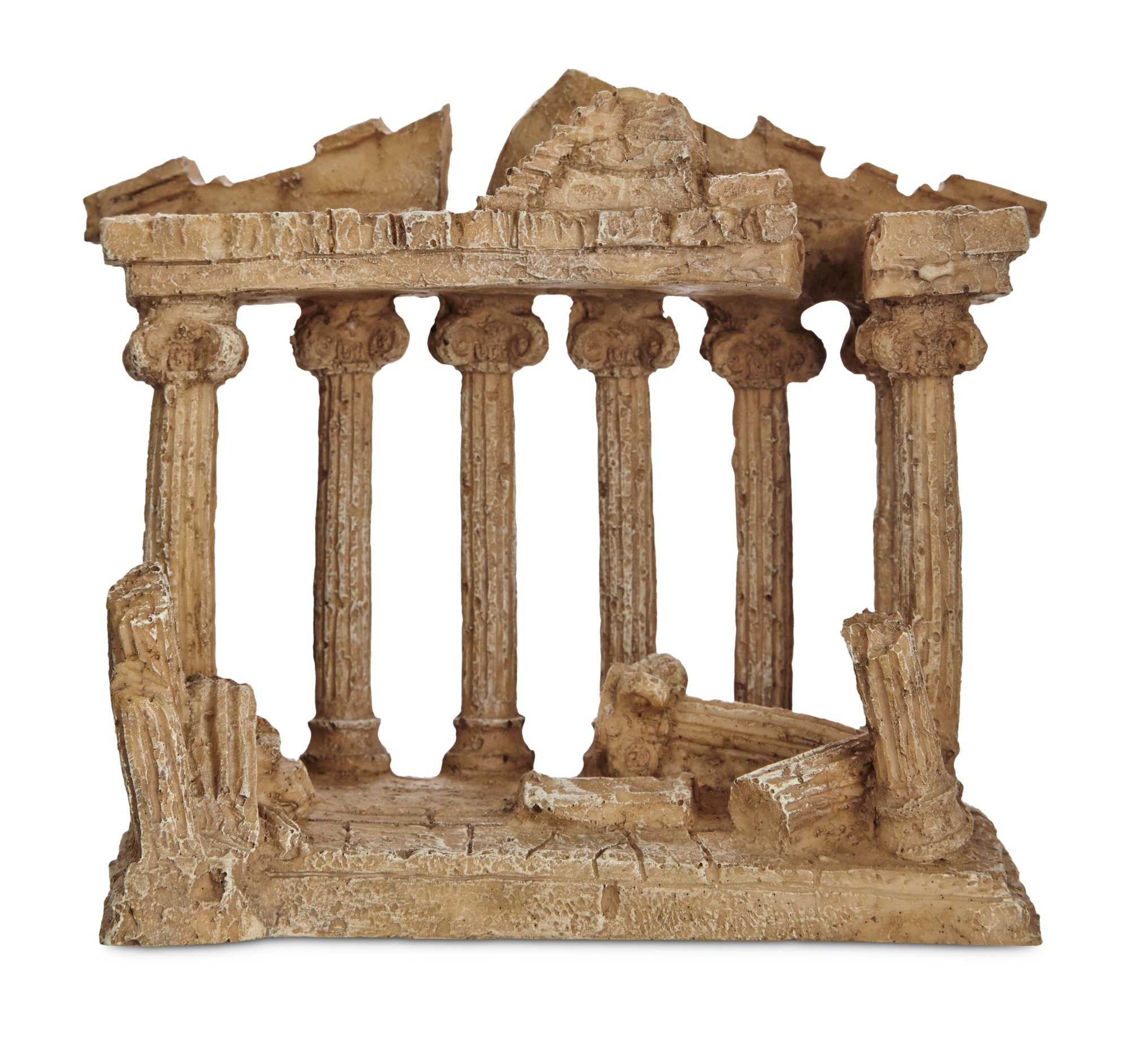 Imagitarium resin greek temple aquatic decor petco for Aquatic decoration