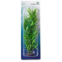 Imagitarium Background Green Plastic Aquarium Plant