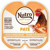 Nutro Perfect Portions Chicken & Shrimp Adult Cat Food Trays