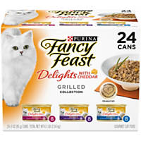 Fancy Feast Delights with Cheddar Grilled Variety Pack Adult Canned Cat Food
