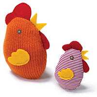 Petlinks System Knit Nipper Chicken & Chick Refillable Catnip Cat Toy