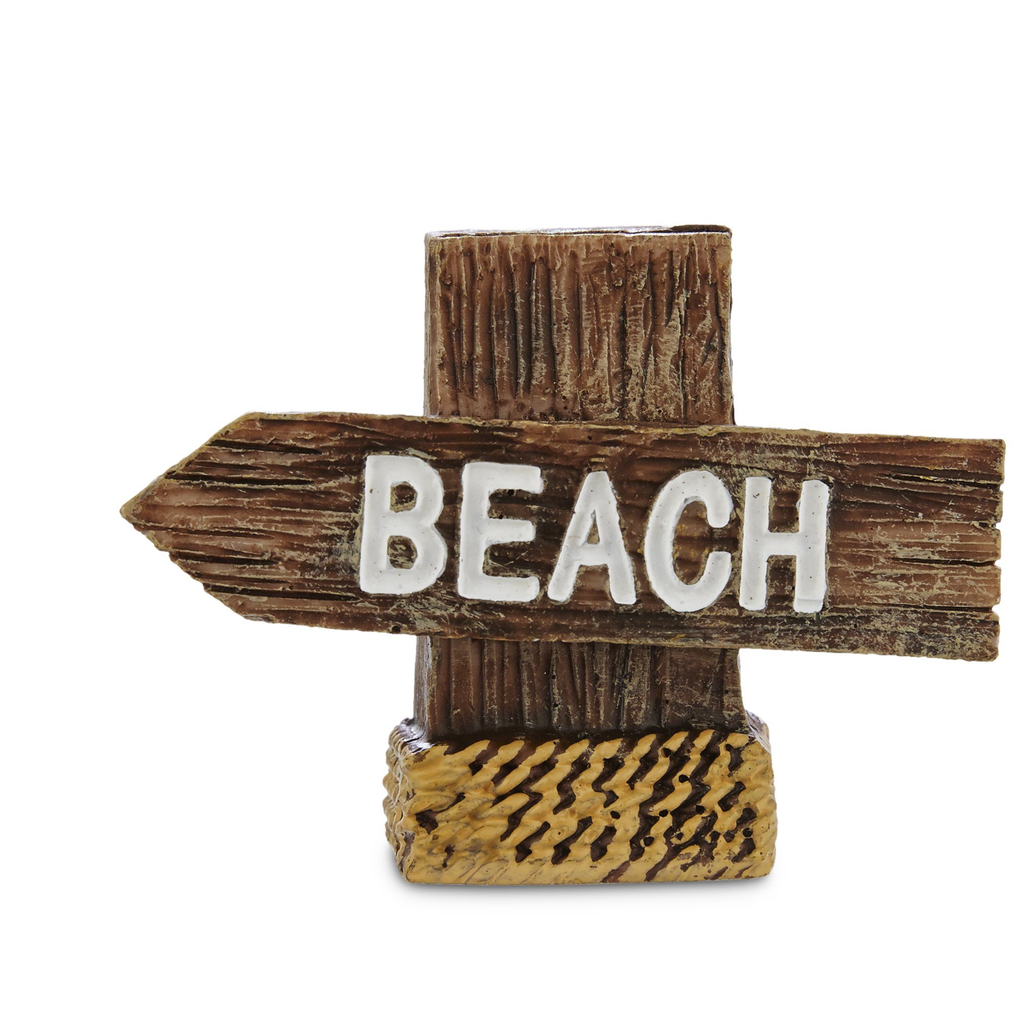 Imagitarium resin beach sign aquatic decor petco for Aquatic decoration