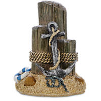 Imagitarium Resin Beach Pier with Anchor Aquatic Decor