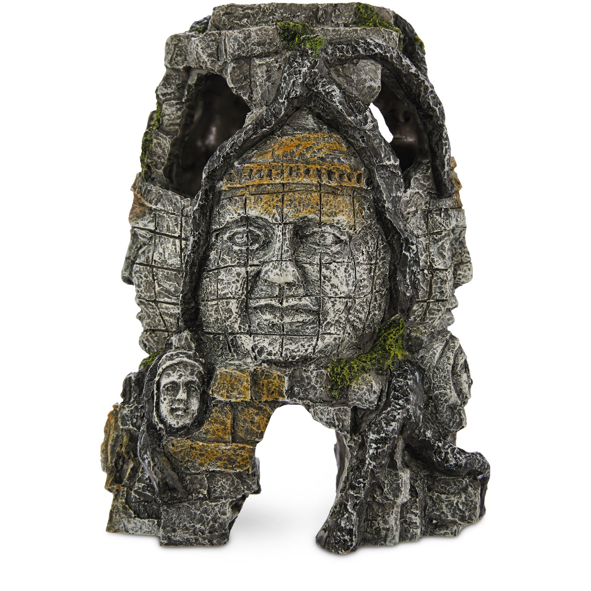 Imagitarium Resin Ruins with Faces Aquatic Decor