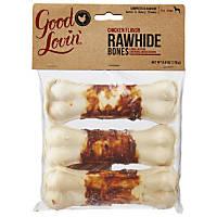 Good Lovin' Chicken Flavor Compressed Rawhide Dog Bones