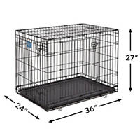 Midwest Lifestages Double Door Fold & Carry Crates