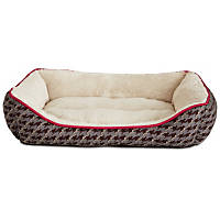 You & Me Gray Hounds-tooth Dog Bed
