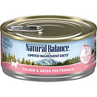 Natural Balance L.I.D. Salmon & Green Pea Canned Cat Food