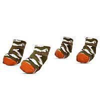 Wag-a-tude Green Camo Dog Socks