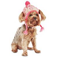 Smoochie Pooch Pink Fair Isle Knit Dog Hat