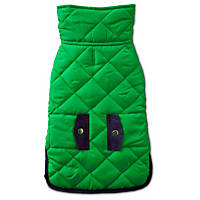 Pup Crew Green Quilted Dog Jacket