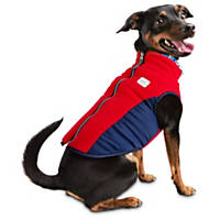 Pup Crew Red and Navy Tech Bomber Jacket