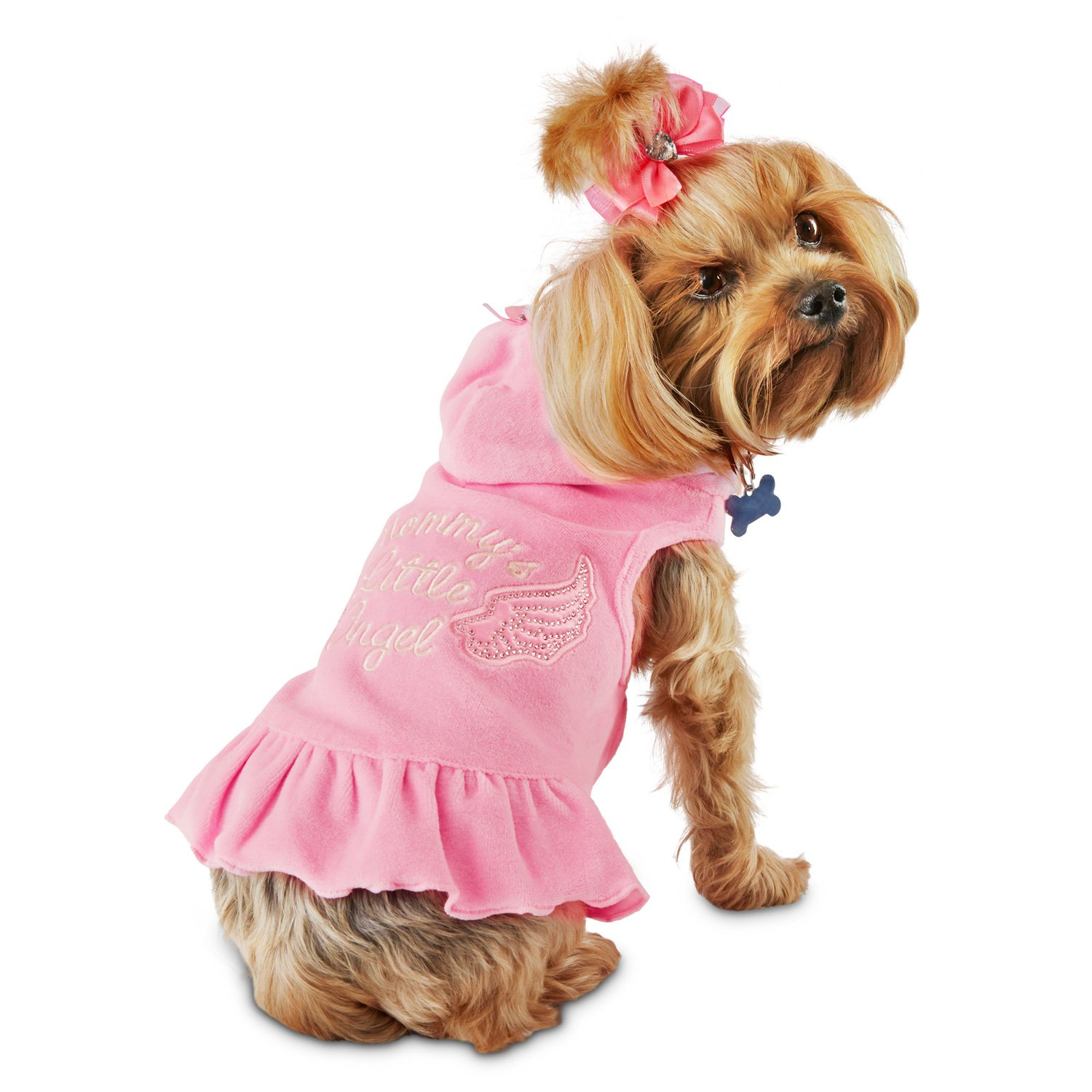 Smoochie Pooch Pink Mommy's Little Angel Hoodie Dog Dress
