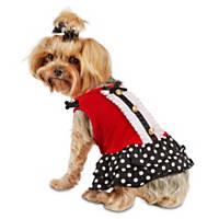 Smoochie Pooch Polka Dot Ruffle Dog Dress