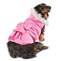 Smoochie Pooch Pink Ruffle Bow Dog Jacket