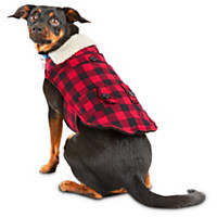 Wag-a-tude Red Plaid Shearling Yoke Jacket