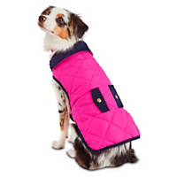 Pup Crew Pink and Navy Quilted Pocket Jacket