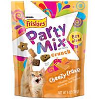 Friskies Cheezy Craze Crunch Party Mix Cat Treats