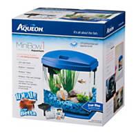 Aqueon MiniBow Blue LED Desktop Fish Aquarium Kit