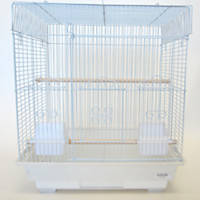 YML Square Top White Bird Cage
