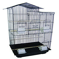 YML Tall Villa Black Top Bird Cage