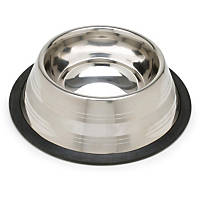 Harmony Two-Toned No-Tip Stainless Steel Dog Bowl