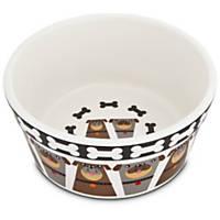 Harmony Tough Guys Ceramic Dog Bowl