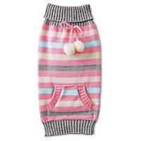 Smoochie Pooch Striped Cardigan Dog Sweater
