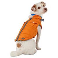 Wag-a-tude Orange Quilted Cargo Dog Bomber Jacket
