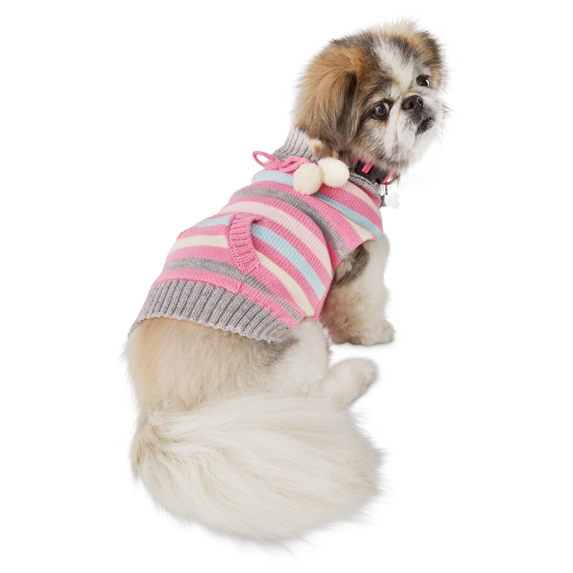 Smoochie Pooch Striped Cardigan Dog Sweater