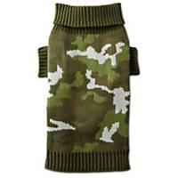 Wag-a-tude Olive Camo Dog Sweater