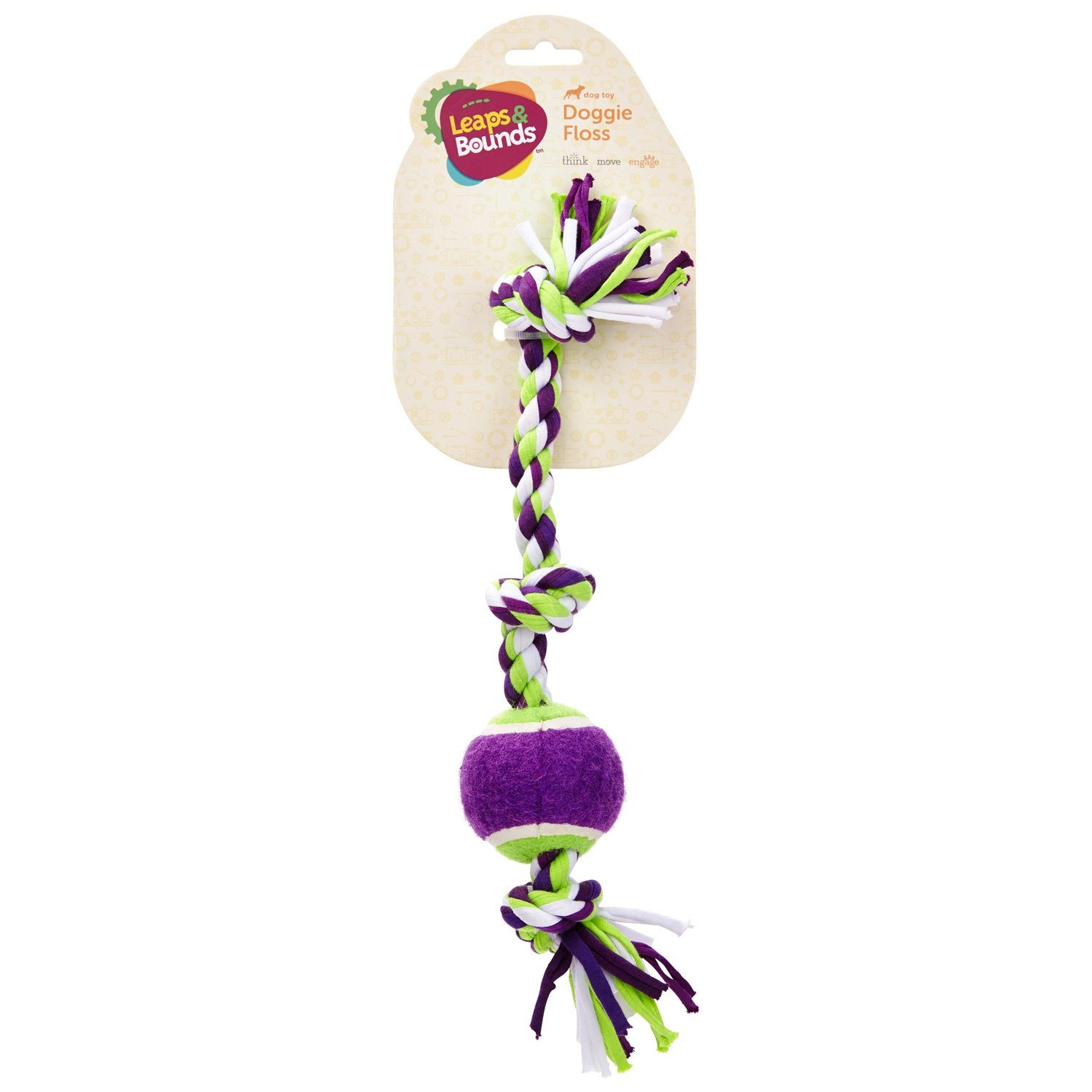 Leaps & Bounds 3 Knot Cloth Rope Dog Toy