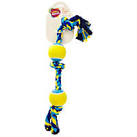 Leaps & Bounds 2 Ball & 3 Knot Dog Toy