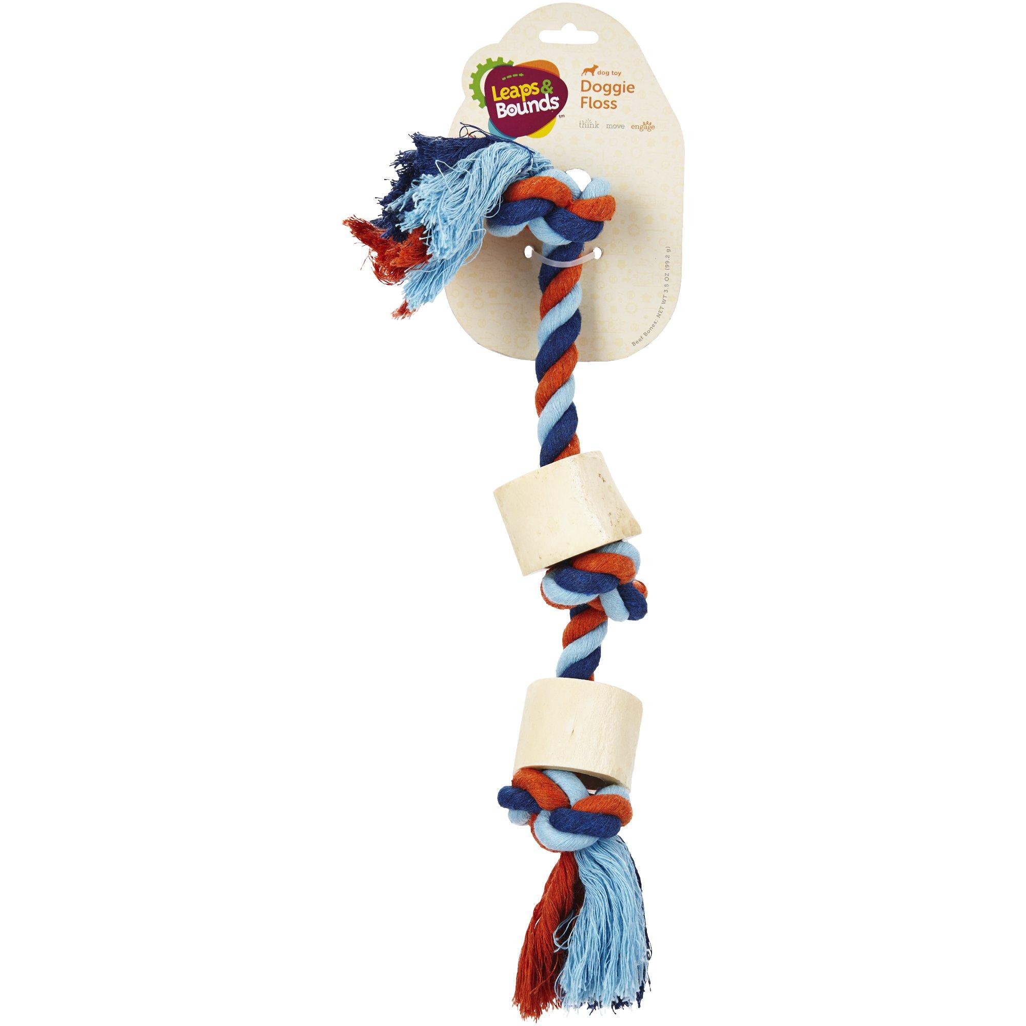 Leaps &  Bounds Medium Rope with Bones Toy