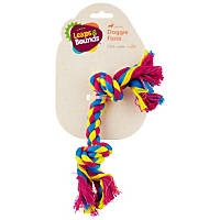 Leaps & Bounds Multi-Color Rope Bone Dog Toy