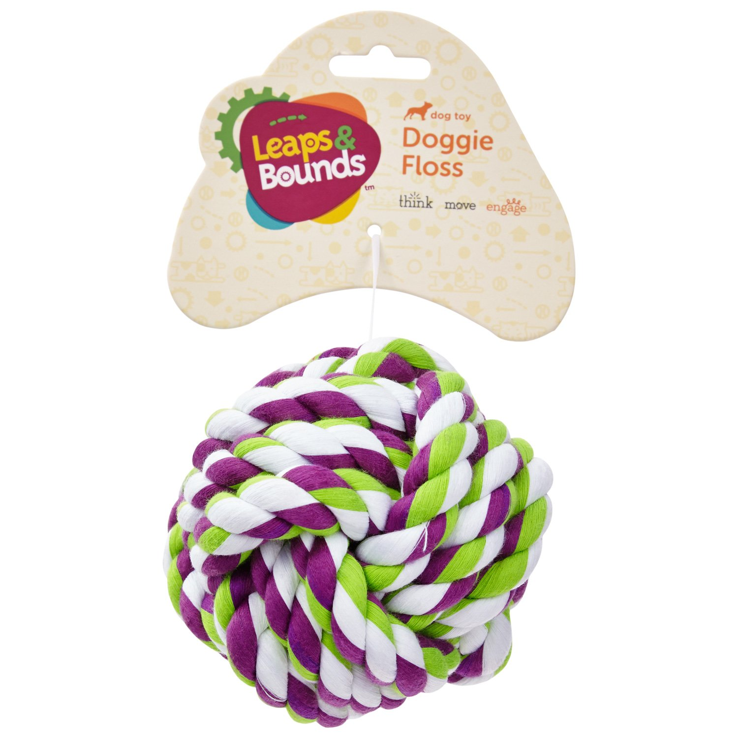 Leaps & Bounds Knotty Rope Ball Dog Toy