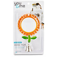 You & Me Two Sided Flower Mirror Bird Toy