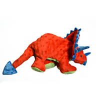 goDog Large Triceratops Dog Toy
