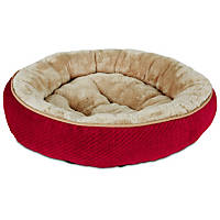 Petco Textured Round Cat bed in Red