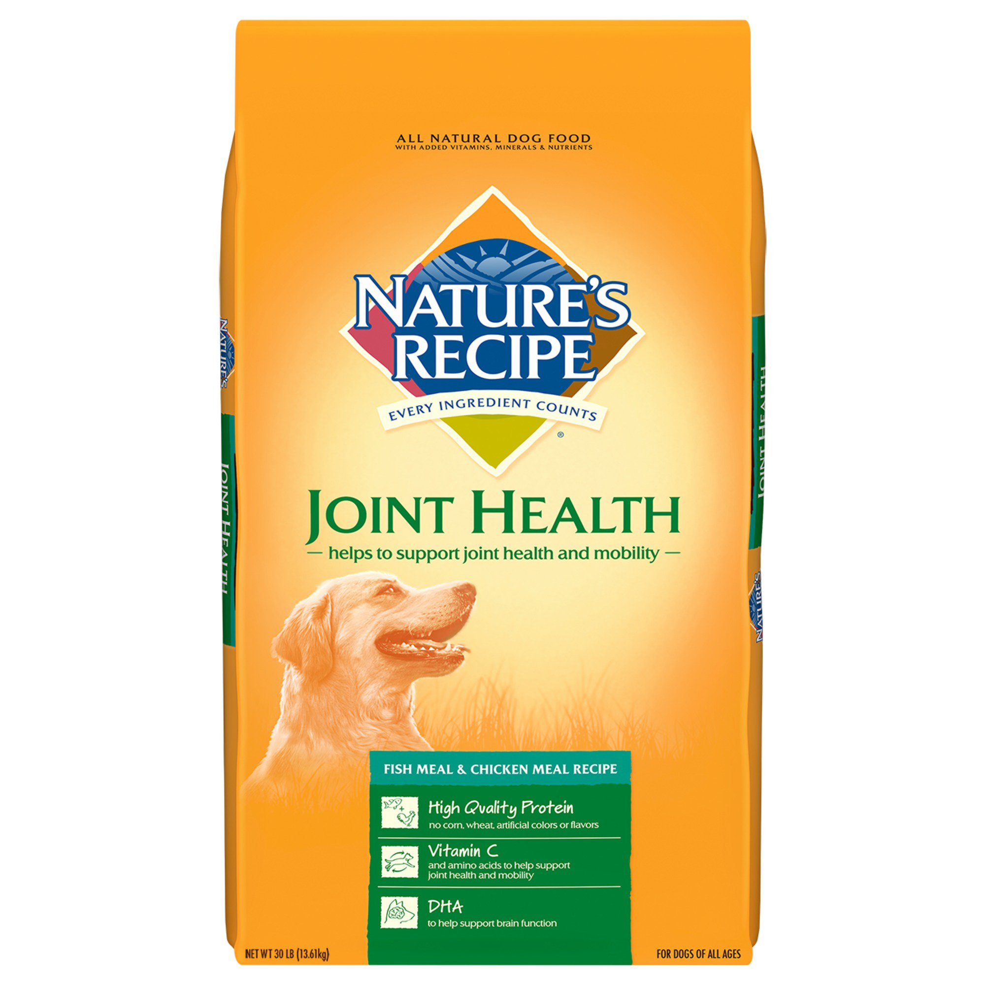 Nature's Recipe Joint Health Fish Meal & Chicken Meal All Lifestage Dog Food
