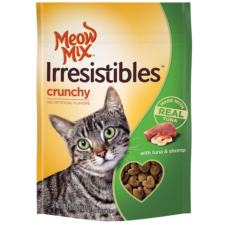 Meow Mix Irresistibles Tuna & Shrimp Crunchy Cat Treats