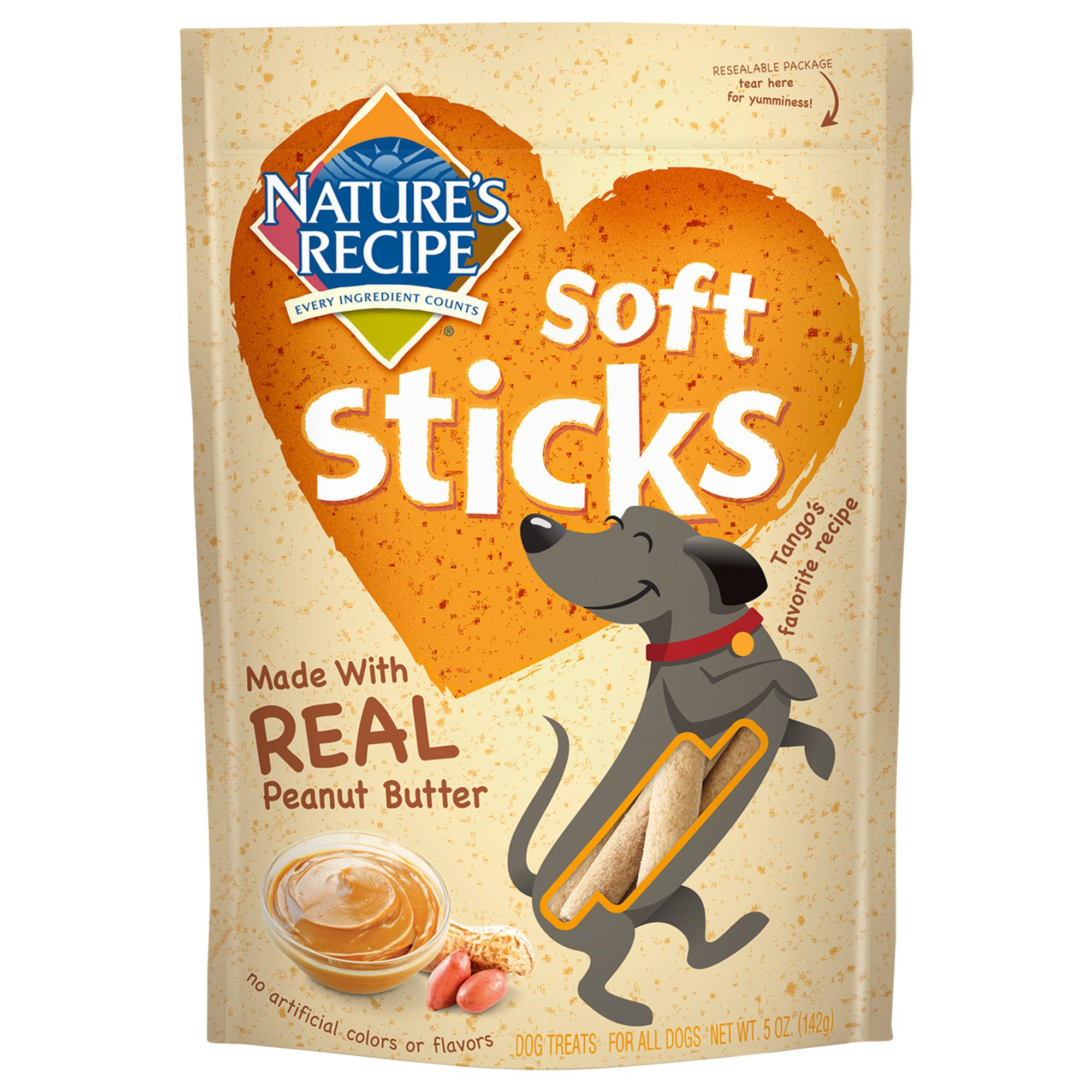 Nature's Recipe Soft Sticks Peanut Butter Dog Treats