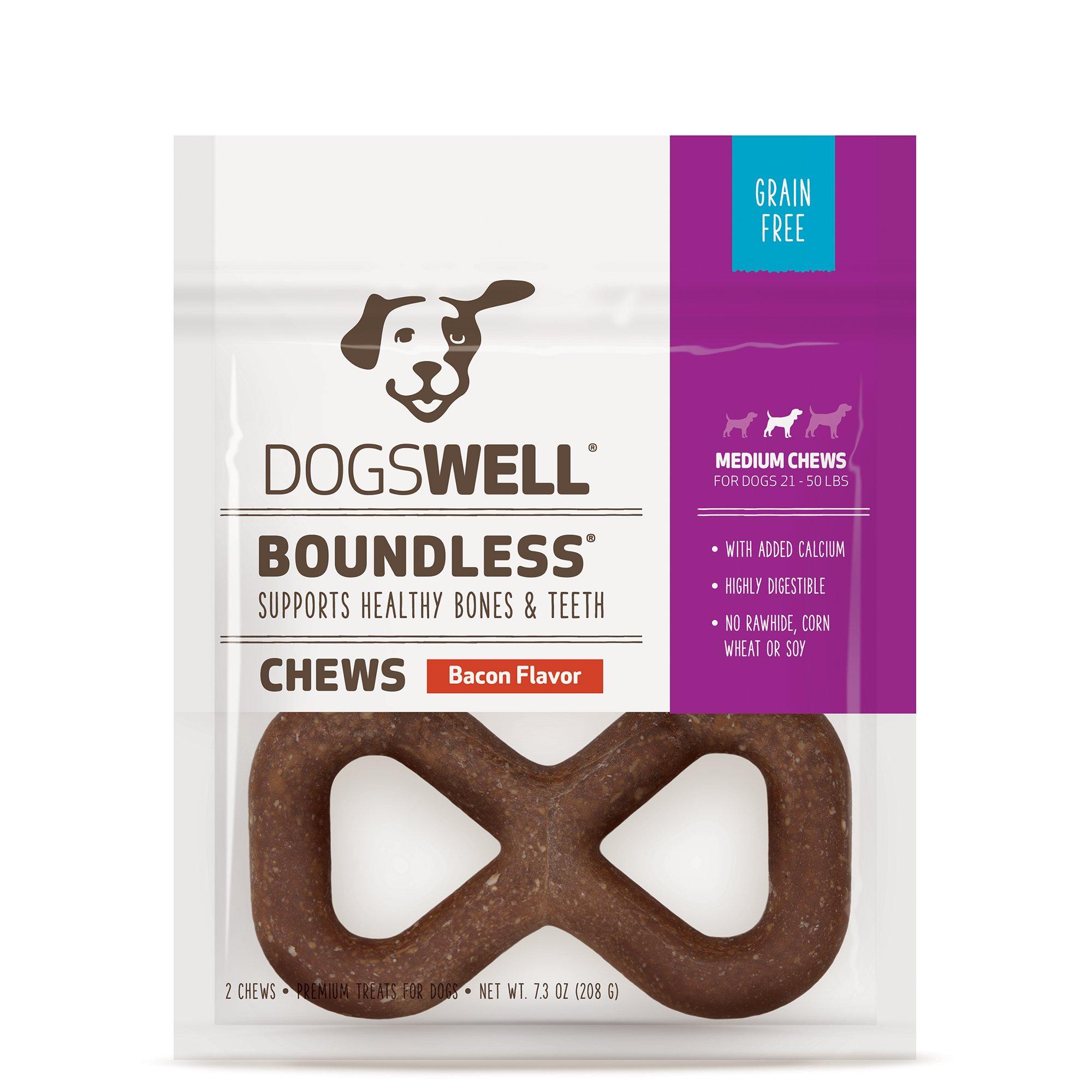 Dogswell Boundless Medium Bacon Dog Chews