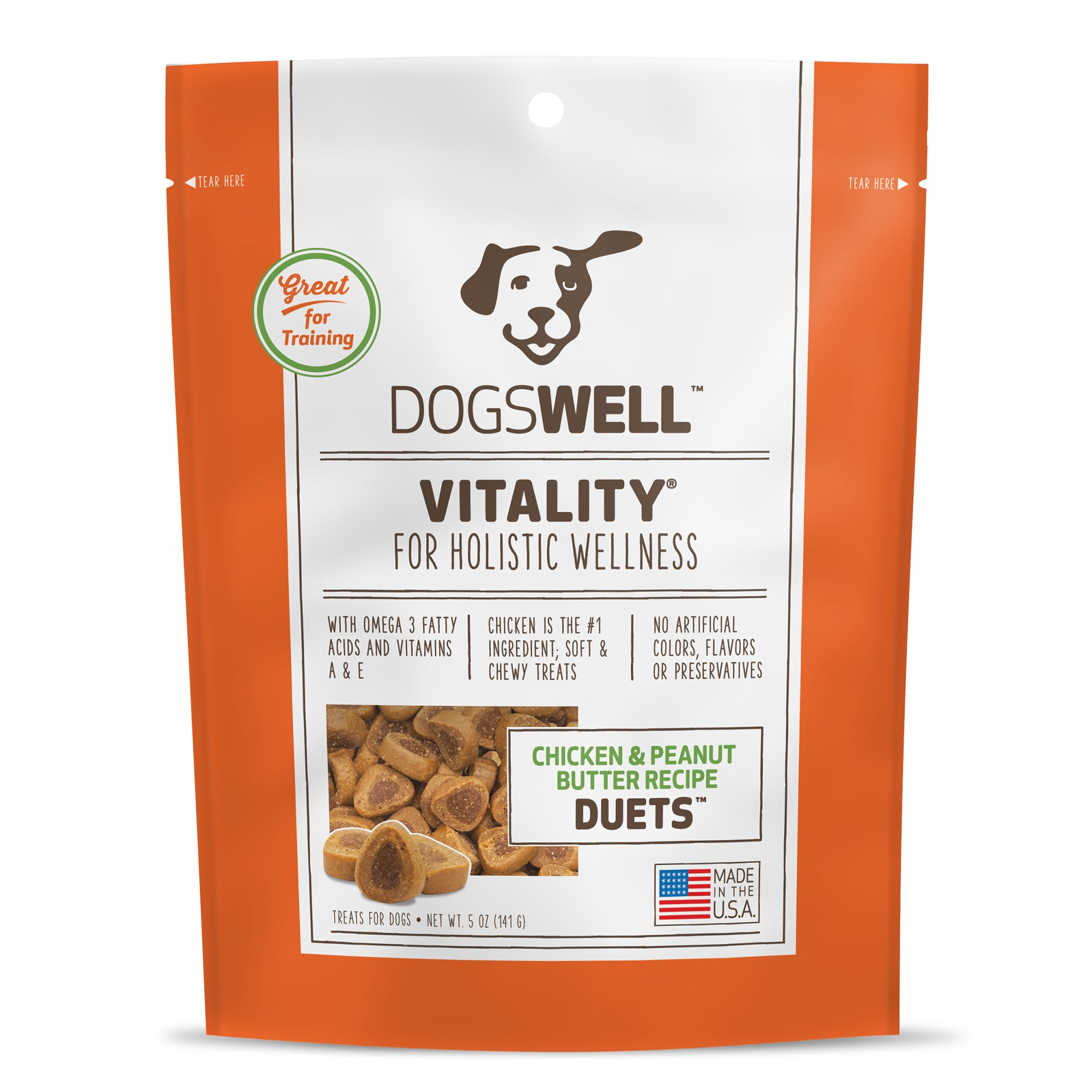 Dogswell Vitality Chicken and Peanut Butter Duets Dog Treats