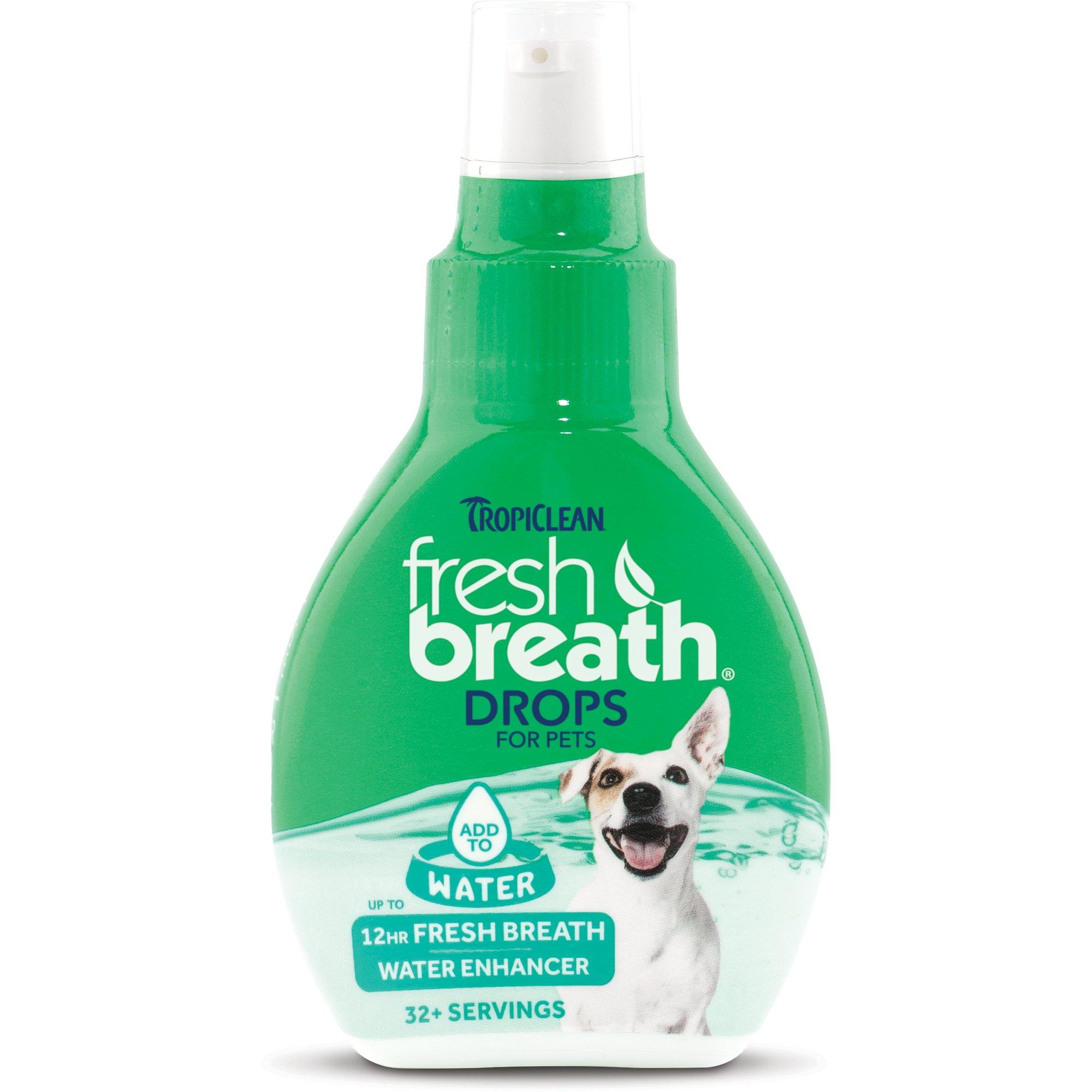 TropiClean Fresh Breath Pet Water Enhancer Drops