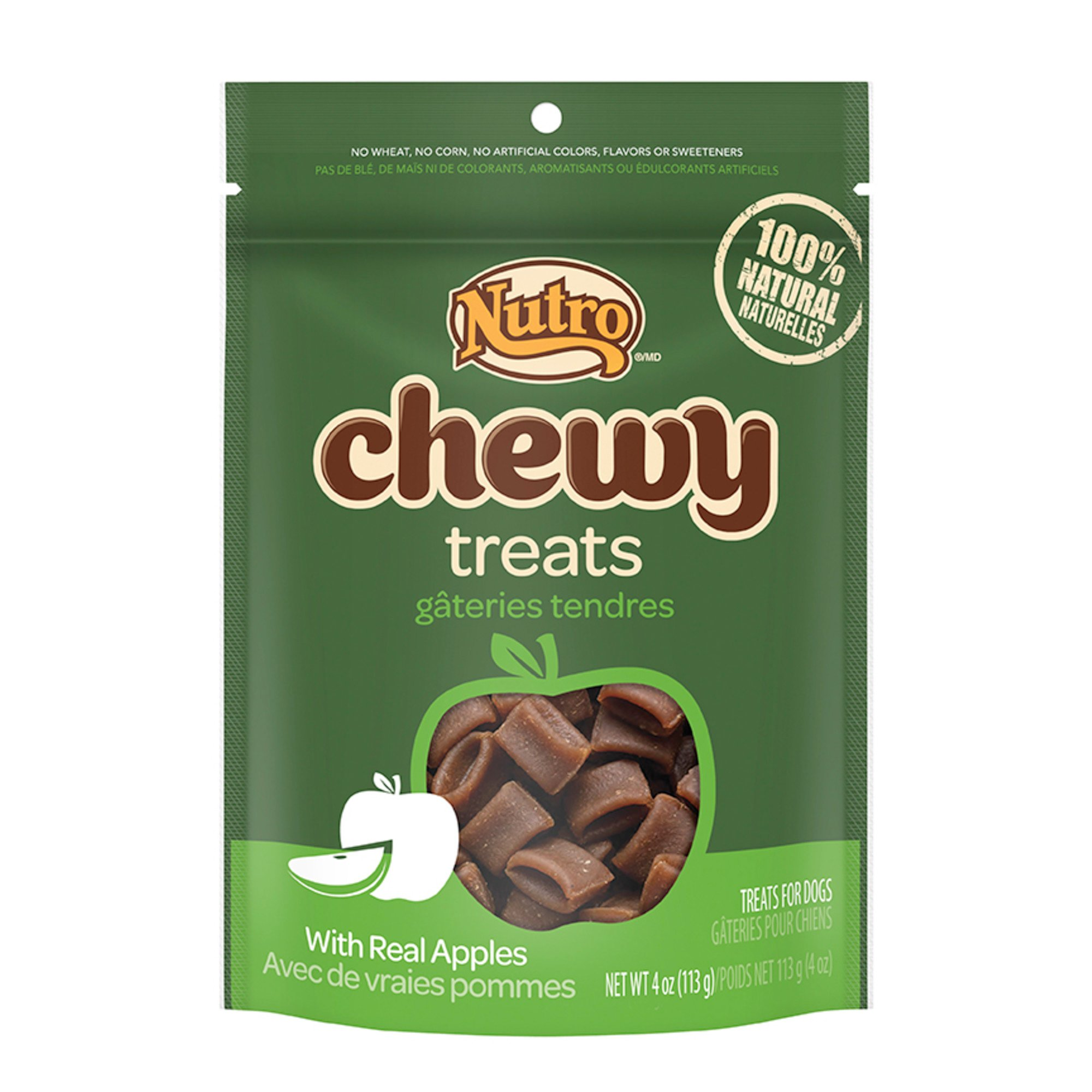 Nutro Chewy Dog Treats with Real Apple