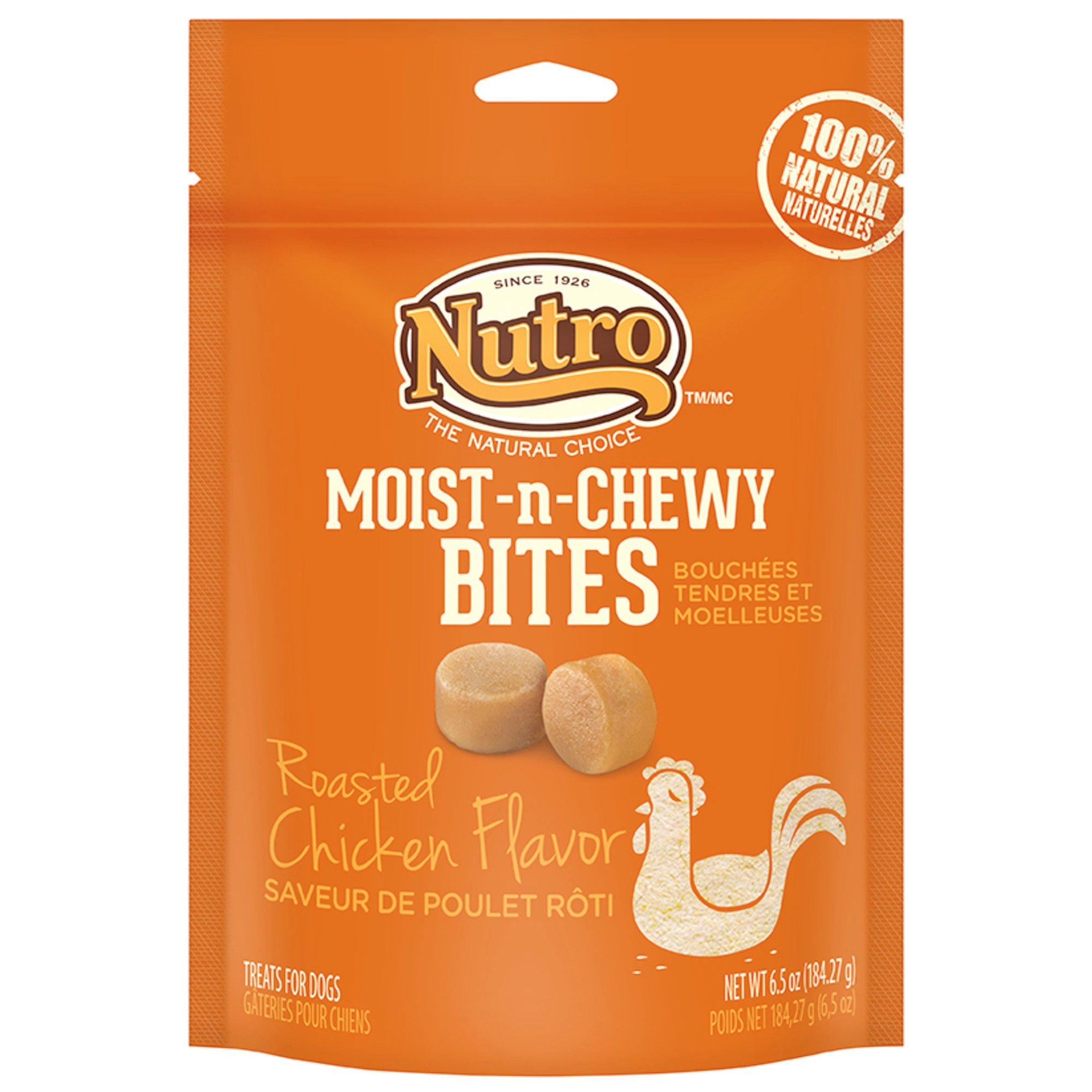 Nutro Moist-n-Chewy Bites Chicken Dog Treats