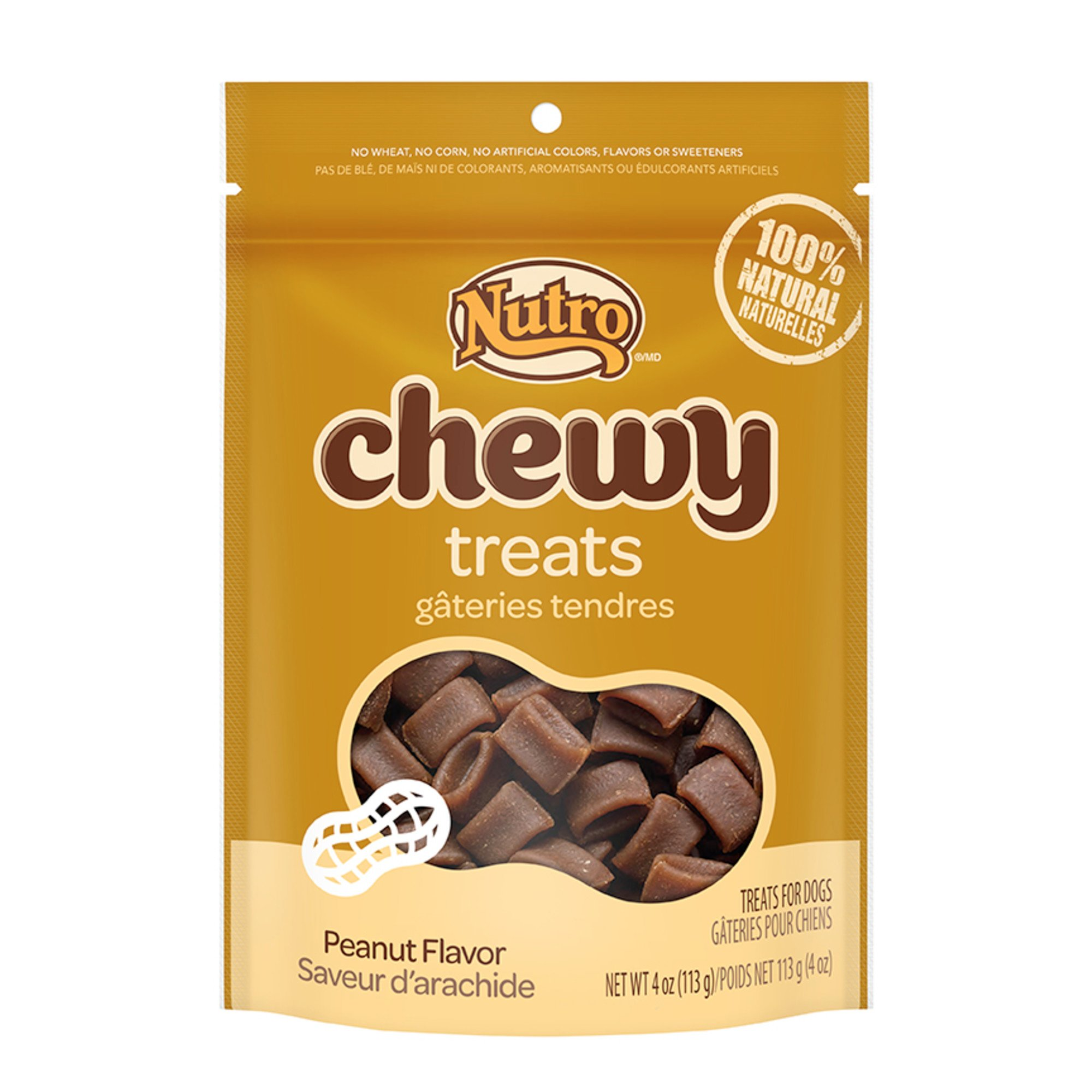 Nutro Chewy Dog Treats with Peanut Butter